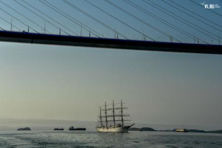 Kaiwo Maru II przechodzi pod Złotym Mostem