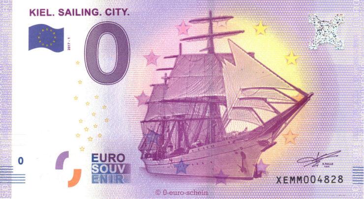 Gorch Fock na banknocie 0 euro