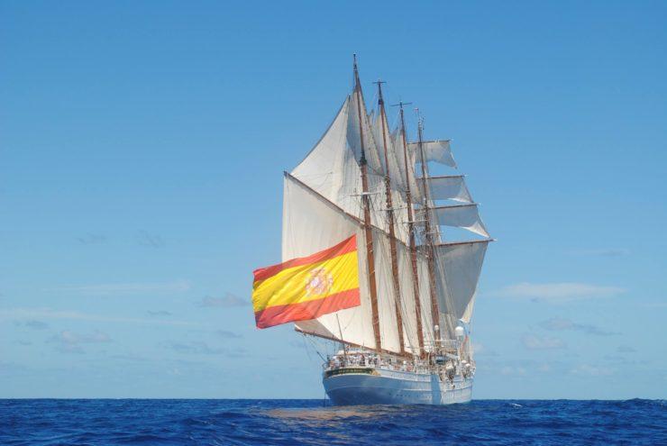 Juan Sebastian de Elcano w morzu