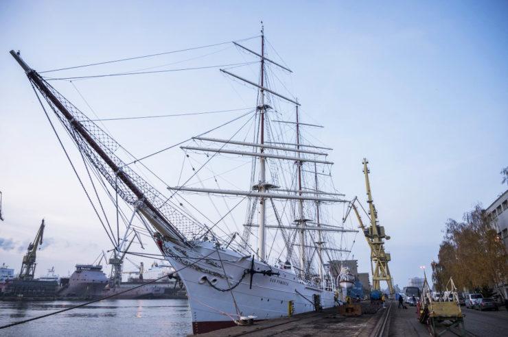 Dar Pomorza w stoczni Remontowa / fot. Narodowe Muzeum Morskie