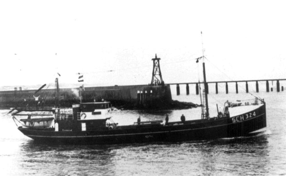 Morgenster jako statek rybacki o numerze SCH 324 / www.scheveningen-haven.nl