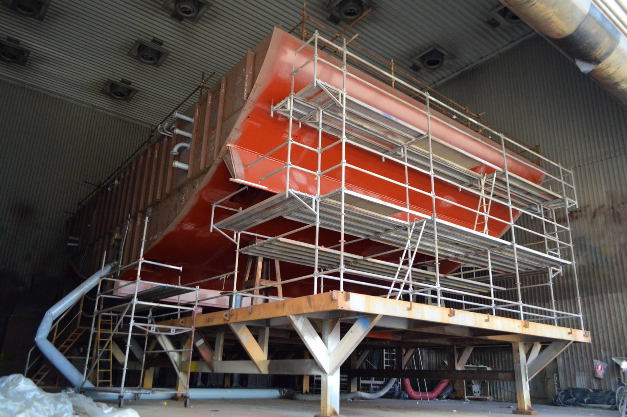 Budowa największego żaglowca świata Flying Clipper