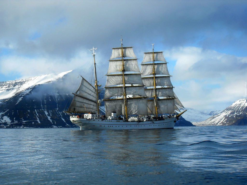 Gorch Fock na Antarktydzie / fot. Deutsche Marine