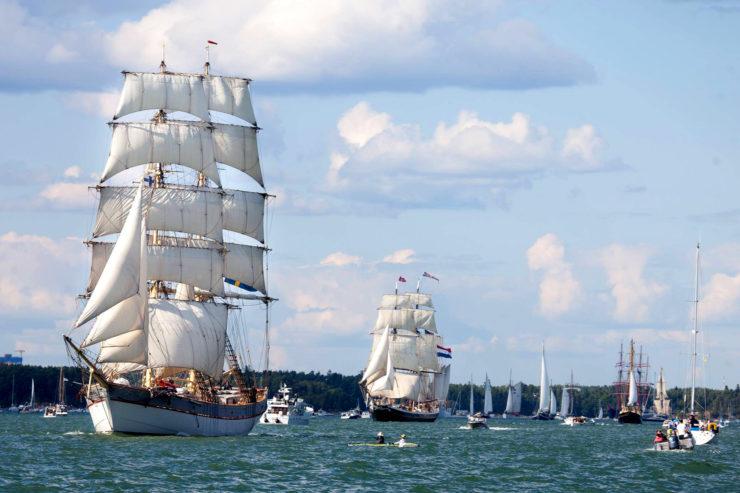 Parada żaglowców podczas The Tall Ships Races 2017