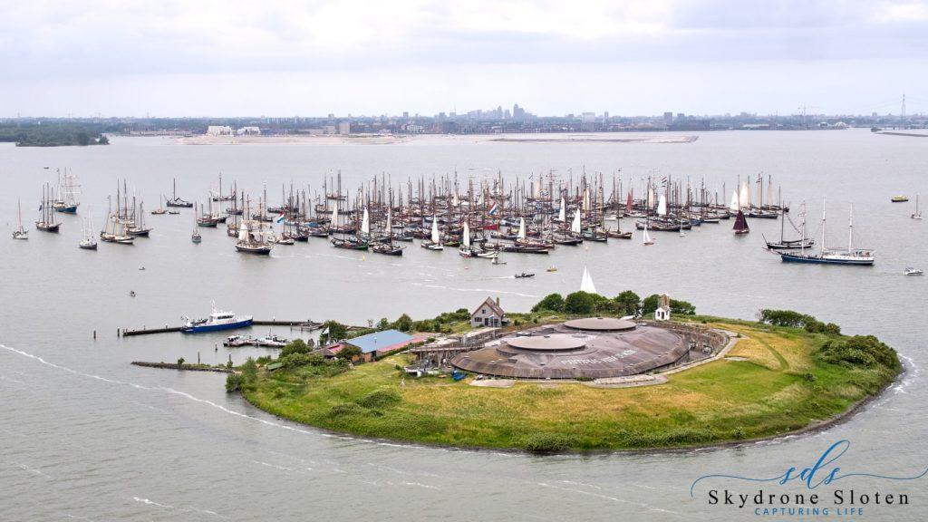 Wielki protest niderlandzkich żaglowców przed wyspą Pampus