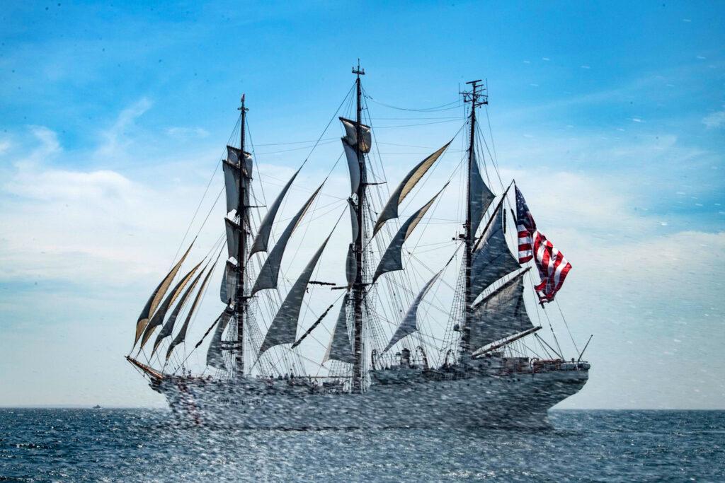 Szkolny bark US Coast Guard Eagle