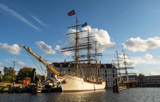 Europa i Stad Amsterdam w Narodowym Muzeum Morskim w Amsterdamie