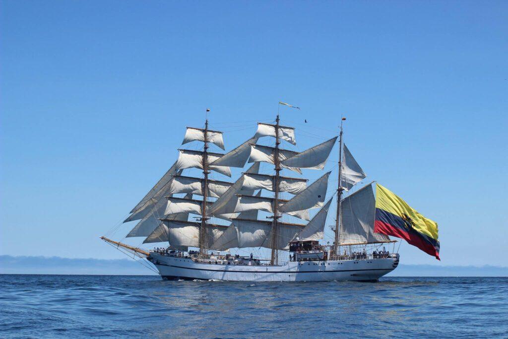 Żaglowiec szkolny ekwadorskiej marynarki wojennej Guayas